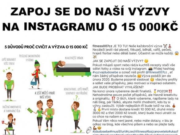 Zapoj se do výzvy na instagramu o 15 000 Kč
