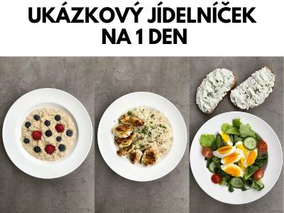 Ukázkový jídelníček pro ženu. Zdravý životní styl bez drastických diet.