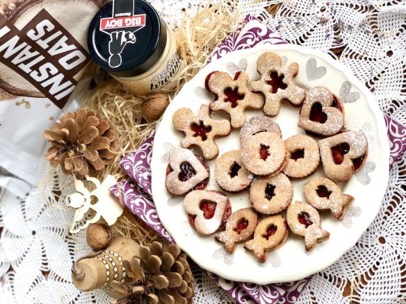 Slepované sušenky alá linecké cukroví - 18 kusů. Rychlý, zdravý recept.