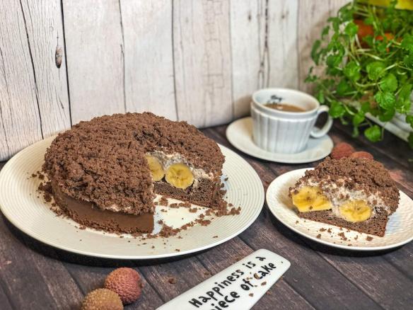 Jednoduchý krtkův dort ze špaldové mouky.