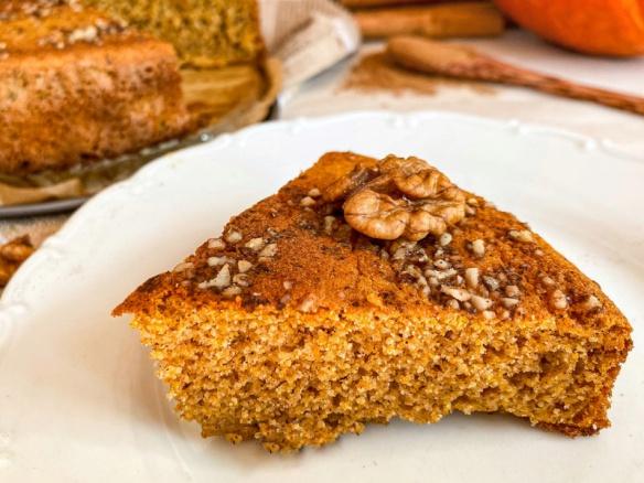 Podzimní fit dýňový koláč