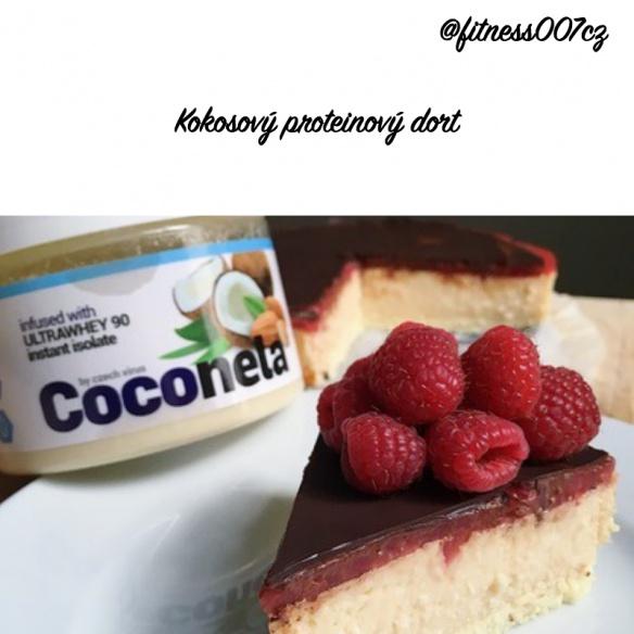 Kokosový proteinový dort