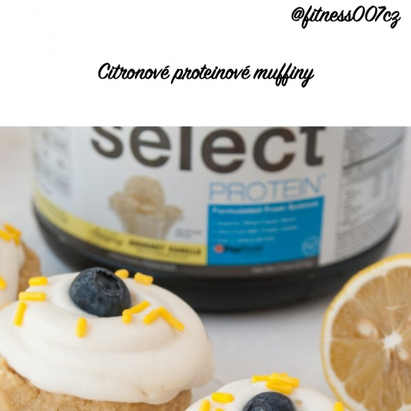 Citronový proteinový muffin s borůvkami