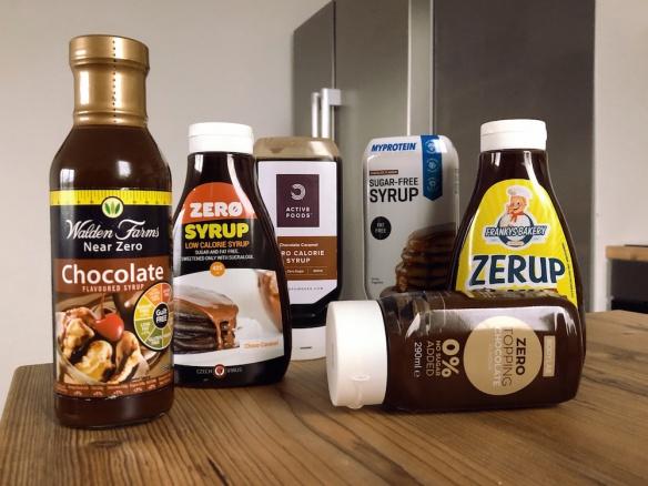 Porovnání sirupů. Zero sirup. Zero topping. Který je nejlepší do diety?